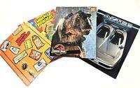 Lot of 4 Pocket Folders Vtg 92 Jurassic Park Topps Wacky Packages Aztec Exoticar