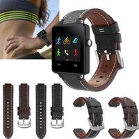 Leather Watch Bracelet Band Strap For Garmin Vivoactive Acetate Smart Wrist 22MM