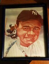 Hank Aaron Autographed 8x10 Print w/ Babe Ruth PSA/DNA/LOA Robert Steven Simon