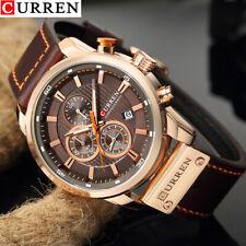 Curren Men PU Leather Sports Wrist Watch Casual Luxury Quartz Watch Waterproof