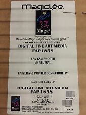 "Intelicoat Inkjet 185gsm Smooth Photo Fine Art, 17"" x 22"", 50 sheets 65667"
