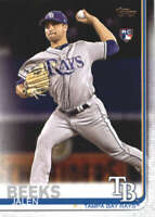 2019 Topps #688 Jalen Beeks Tampa Bay Rays Rookie Baseball Card