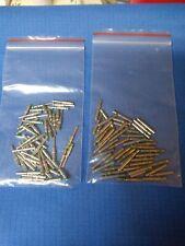 50 Pair Deutsch Solid Size 16 Pin & Socket Nickel 14 AWG. 50 pins & 50 sockets.