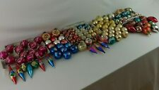 XMAS Glass Ornaments Lot of 125+ Shiny Brite USA Poland Germany Multi Color Vtg
