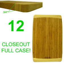 """Closeout! 12 New Chefs Bamboo Wood Kitchen Cutting/Serving Boards,16""""X10.25&#03 4;"""