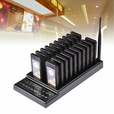 Restaurant Coaster Guest Pager Wireless Paging Queuing Calling System+ 20 Pagers