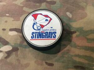 Official Vintage South Carolina Stingrays East Coast League Hockey Puck ECHL USA
