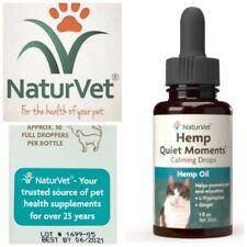 🐾Hemp Oil (Naturvet) Quiet Moments Calming Drops Cats {Reduce Stress} Exp6/21🐾