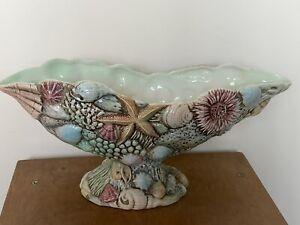 "Large 13"" Beswick Ware Pottery Shell Mantle Vase No. 2014"