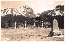 VTG POSTCARD CANADA GREAT DIVIDE MONUMENT British Columbia BANFF Real Photo RPPC