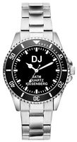 DJ Disk Jockey Beruf Geschenk Fan Artikel Zubehör Fanartikel Uhr 2446