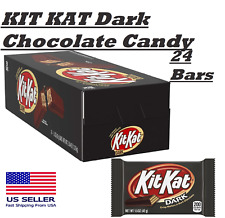 KIT KAT Dark Chocolate Candy, 1.5 Ounce, Full Size Bars, 24 Count