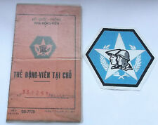 south vietnam local  military forces identity card and printed  cloth patch