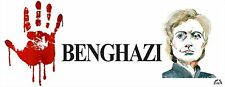 RED HAND FOR MURDER IN BENGHAZI - ANTI HILLARY POLITICAL BUMPER STICKER #4236