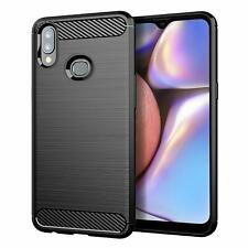 For Samsung Galaxy A10s Case Carbon Fibre Gel Cover Ultra Slim Shockproof