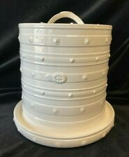 More details for leedsware pottery creamware embossed cheese cloche 10