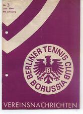 Tennis Borussia Berlin - Vereinsnachrichten - Juni 1966