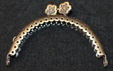 Taschenbügel Taschenverschluss Taschenrahmen - halbrund - 8,5x6cm - bronzefarben
