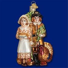 Pilgrim Thanksgiving Harvest Turkey Old World Christmas Glass Ornament Nwt 24156