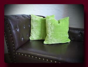 Kissen Kissenhülle Dekokissen im Glanz - Design Farbe grün / hellgrün