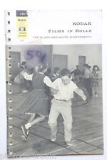 Kodak B&W Films in Rolls Data Booklet F-13 1965 - English - USED B46