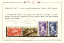 1935 Regno Salone Aeronautico Serie cpl. Cert. Ray **