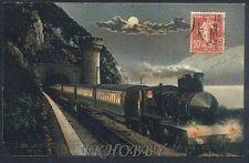 CPA France 1909 Locomotive Train Lokomotive Zug Treno Locomotora Kolej Rain k257