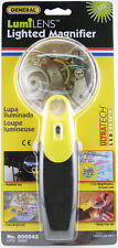 """Lighted Magnifer Glass LED """"LUMILENS"""" General Tool #800543 3x-6X Magnification"""