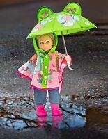 Heless Puppenkleidung Puppen Regencape Schirm Regenstiefel für 35 - 45 cm Puppe
