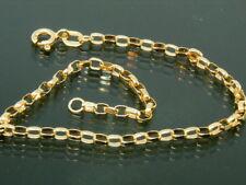 """9ct oro 9k dorado de Belcher 7 1/2"""" ley pulsera"""