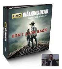 2016 Walking Dead Season 4 Part 1 Trading Card Binder + Rick Grimes Metal Card