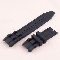 26mm Gummi Uhrband Uhrarmband für Invicta Pro Diver 6977-6978-6981-6983 Schwarz