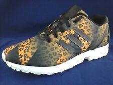 ADIDAS Shoes LEOPARD ZX Flux Sneakers S75496 TORSION Black Men's 7.5/40 2/3 $130