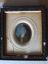 """MINIATURE - PEINTURE SUR CARTON D'UN """"INCROYABLE"""" SOUS LE DIRECTOIRE (1795/99)"""
