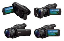 Sony FDR-AX100E 4K Ultra HD Handycam Caméscope 20MP AVCHD Pro Zeiss Wifi 5.1CH