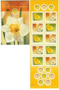 2005 Canada SC# BK 308-Daffodils,Flowers-booklet of 10-M-NH