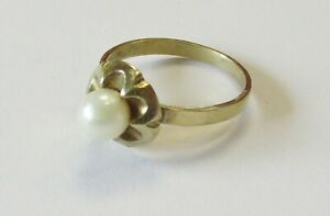 Goldring 333er Gold mit Perle Damen Ring Schmuck