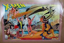 "Original 1993 Marvel Press X-Men Swimsuit Beach Party Poster 34x22"" #131 Whilce"