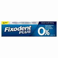 Fixodent Plus Zero Premium Denture Adhesive, Natural 0% Flavour & Colourant, 40g