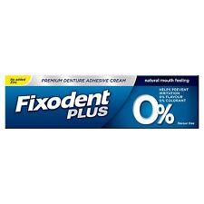 Fixodent Plus Zero Premium Colle pour Dentier, Naturel 0% Goût & Colorants, 40 G