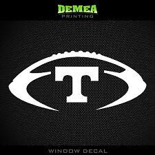 "Tennessee- Volunteers - Football - NCAA - White Vinyl Sticker Decal 5"""