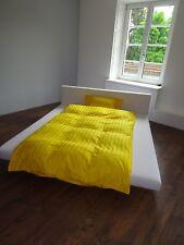 Satin-Bettwäsche uni Streifen, aus 100% Bio-Baumwolle, 80x80/135x200 Gelb NEU !
