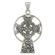 Sterling Silver St. Andrews Celtic Knot Cross Pendant - Irish Knotwork Jewelry