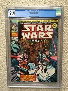 STAR WARS WEEKLY #6 CGC 9.4 NM HIGHEST / ONLY GRADED COPY ON THE PLANET!