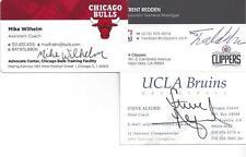 UCLA BRUINS HEAD COACH STEVE ALFORD SIGNED BUSINESS CARD