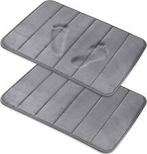 2 Pack Magnificent Memory Foam Bath Mat Soft Absorbent with Non-Slip Back
