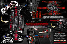 TRAXXAS E-REVO SUMMIT CHASSIS 'MACHINEHEAD' HOP UP GRAPHICS FITS OEM PARTS RED