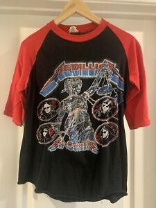 Vintage Metallica Tour shirt and justice for all 1988 1989 Size L Raglan Shirt