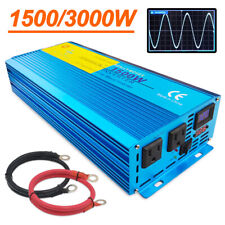 1500w 3000w pure sine wave power inverter Dc 12v to Ac 110v Car Converter travel
