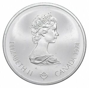 1974 $10 Canadian Canada Olympic Silver Coin *459